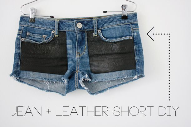 Jean + Leather Short DIY | The Band Wife