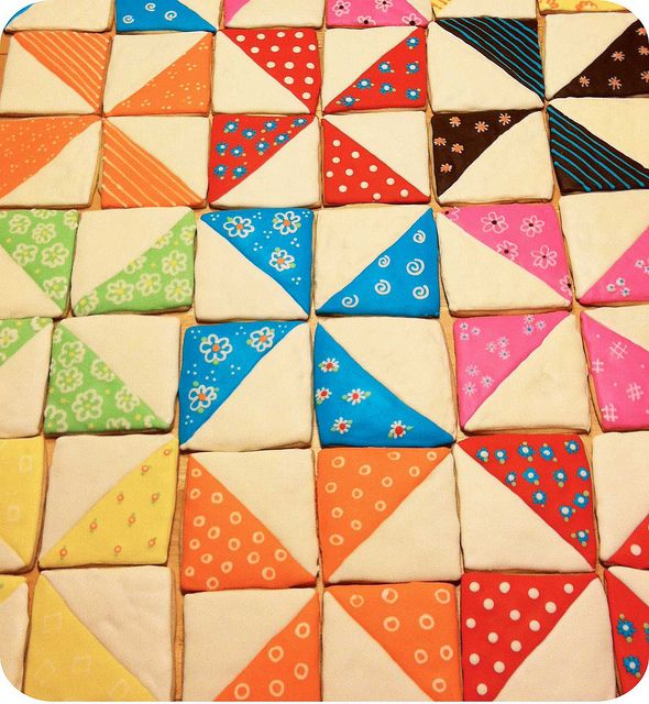 Quilt Cookies!!!  Mama is going to love making these :D