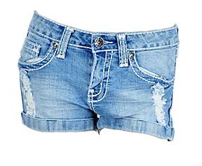 Distressed Jean Shorts - $33