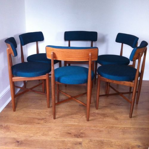 Retro G Plan Kofod Larsen Fresco Dining Chairs X 6
