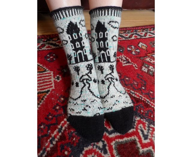 This Moomin Valley sock pattern is my tribute to the magic of Tove Jansson's wonderful illustrations.
