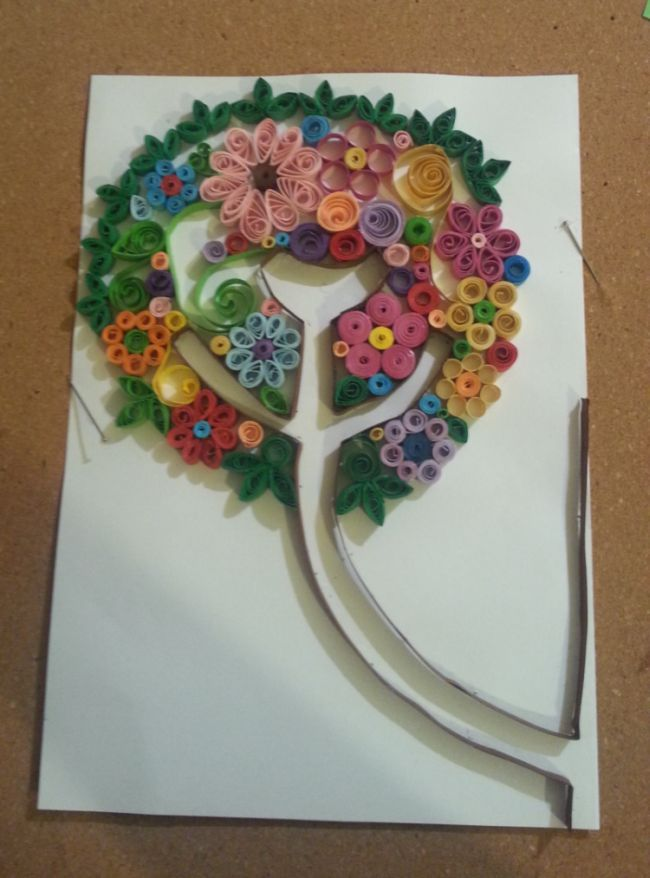 Bird, Three, Summer, Quilling