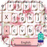 Pink Rose Theme&Emoji Keyboard