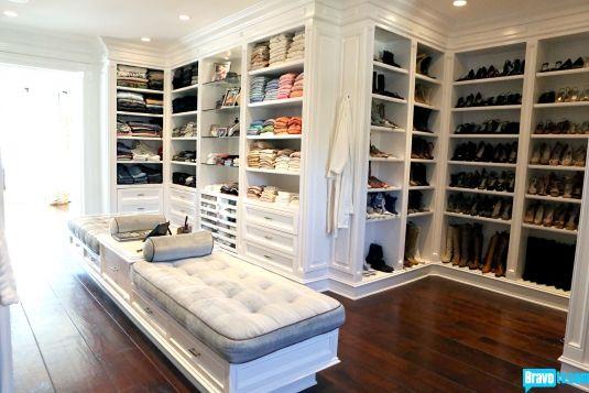 el tipo de closet que me gusta - Yolanda Foster's closet