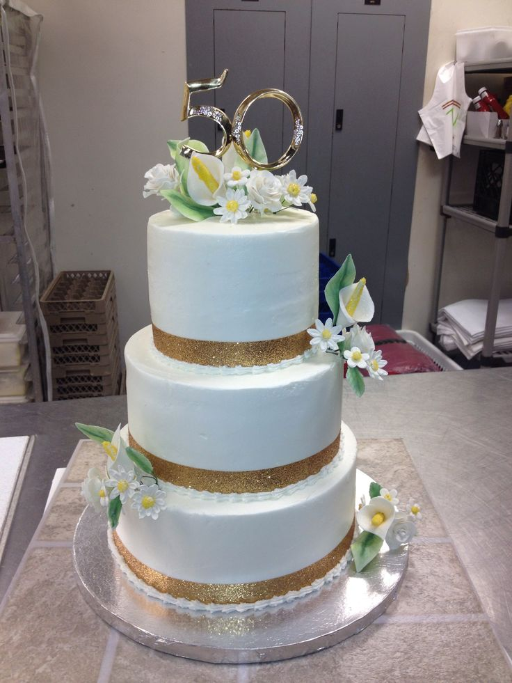 Golden Wedding Cakes Images