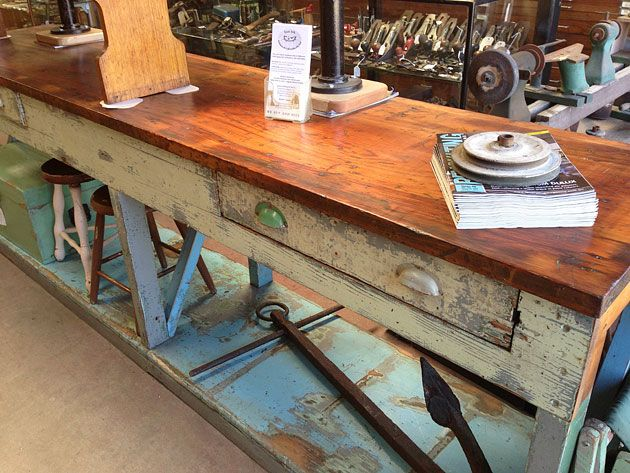 Workbench. Lost Ark Antiques and Collectables, Melbourne