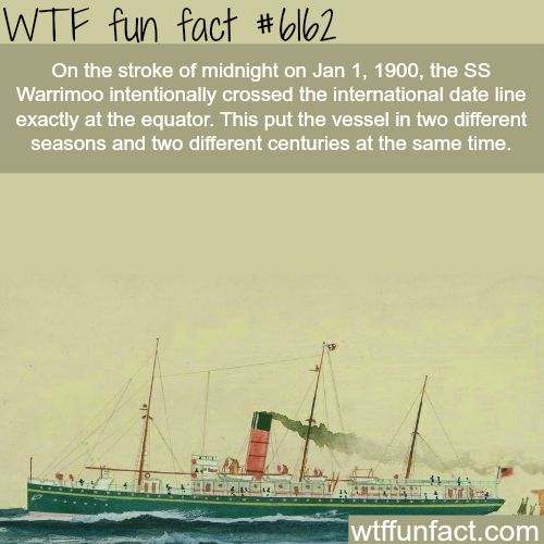 What happen when you cross the international date line… - WTF fun facts