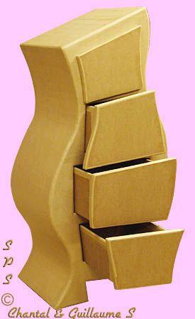 Wonderful  Corrugated Cardboard Furniture Cupboard Portable File Storage Cabinet