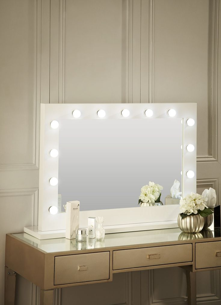 bedroom mirrors with lights around them 17 best ideas about white gloss dressing table on 20275