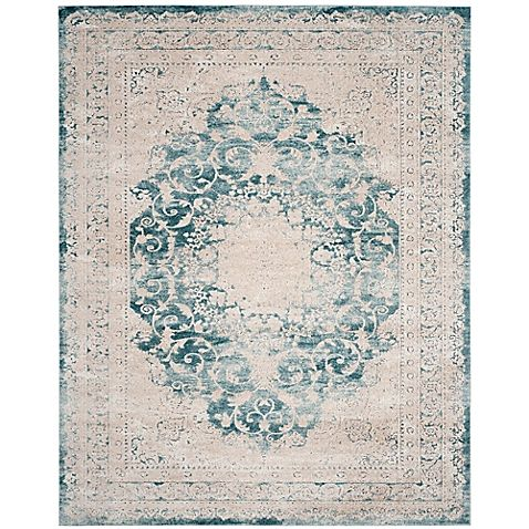 Add an ornate touch to your home décor with Safavieh's Palermo Granada Rug. Crafted of viscose, this luxurious rug features a medallion and floral-studded vine design that is brings heirloom charm to any setting.