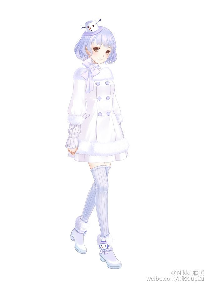 Winter apparel anime girl