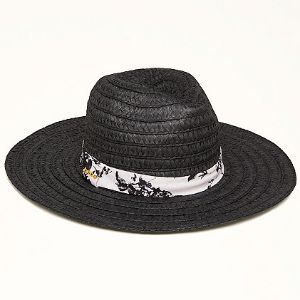 20% off Bebe - Wide Brim Fedora Hat Black - $34.99