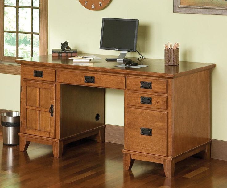 pedestal desk home office desks corner uk wood wooden for