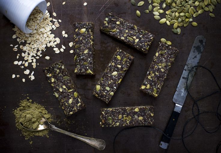 Hemp Protein Bars from Green Kitchen Stories. Naturally sweet, nourishing and bursting with seeds, oats, coconut oil, shredded coconut, cacao and dates. One of these protein-packed bars is a great healthy midday or post-workout snack.