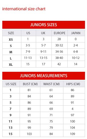 Juniors Size Chart - Macy's for Juniors-includes