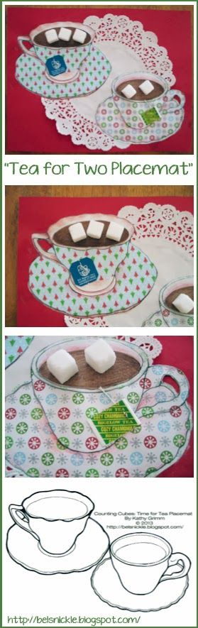 "Belsnickle Blogspot : Craft a Christmas Themed ""Time For Tea Placemat"""
