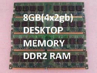 8gb (4x 2gb PC2-6400 DDR2 Memory DESKTOP Ram DELL Optiplex 745 755 760 960 HYNIX