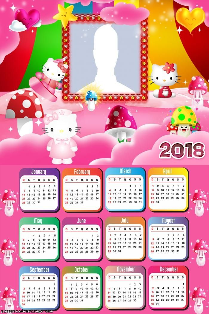 Calendar 2018 Hello Kitty Calendar 2018 Pinterest Calendar
