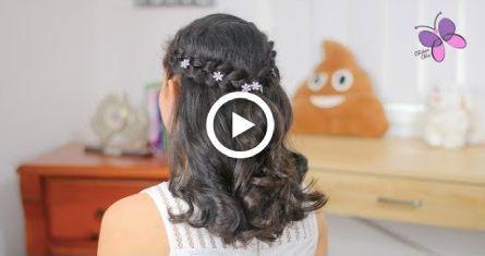 #Abschlussfeier #Easy Hairstyles for graduation #elegante #Frisur #Frisuren,  #abschlussfeier...