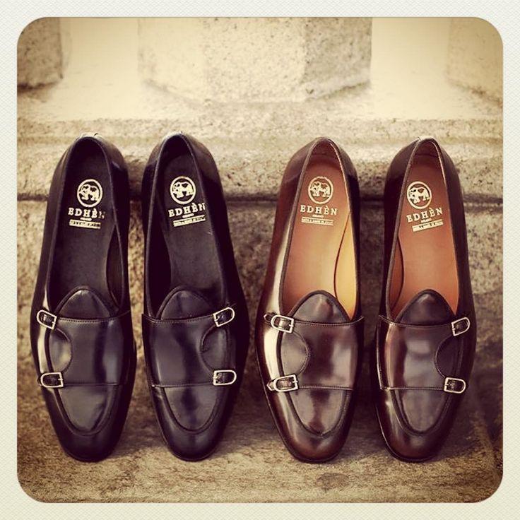 "bcnpreppy: ""Totally in love with these sexy babies 😍 @edhenmilano | #preppy #preppystyle #bcnpreppy #pijo #espreppy #ep #soypreppy #shoes #double #monstrap #monks #loafers #mocasines #castellanos #hebilla #fashion #man #menstyle #menswear..."