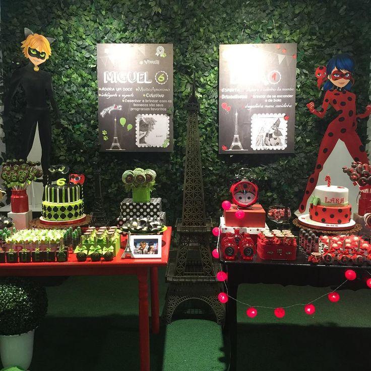 Festa Infantil Miraculous Ladybug - para irmãos
