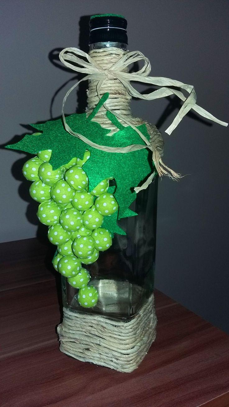 Wine bottle decorated