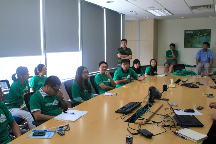 The 2012 China Intern class during their orientation day at #VMwareChina