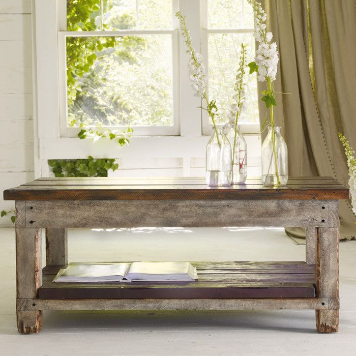 Allier Coffee Table...would love to make taller for a table for my outdoor patio.