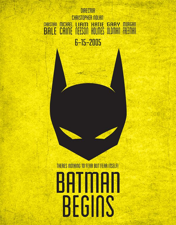 Batman Begins Movie Poster by Maurice Mayfield, via Behance