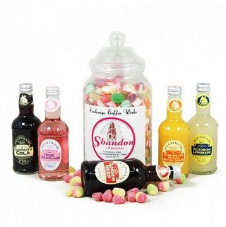 This sweet gift is the perfect gift for those with a sweet tooth. A fun gift packed full of delicious sweets accompanied by the retro Fentimans Mineral Range.