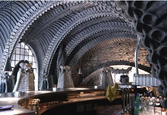 HR Giger Bar: the Alien Skeleton Bar in Switzerland. One of the weirdest places I have been.