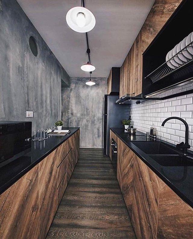Industrialna Kuchnia Obserwuj Homeasy Kitchen Dla Codziennej Dawki Wnetr Industrial Kitchen Design Kitchen Room Design Modern Kitchen Design