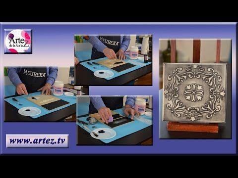Decora caja con falso repujado y patinas - YouTube