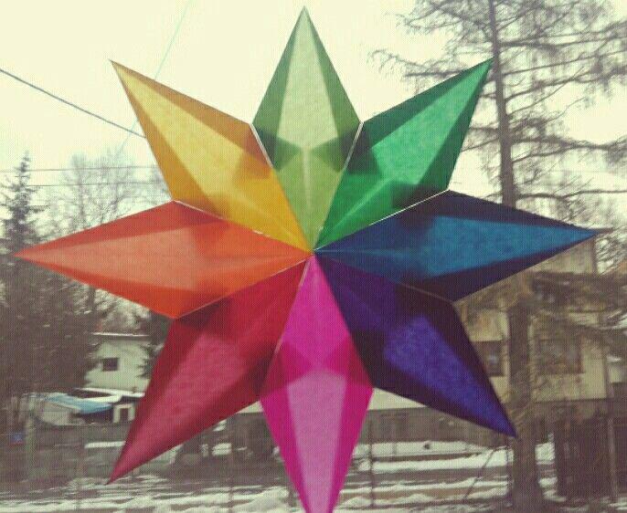 Window stars. Tradycyjne gwiazdy z bibuły.