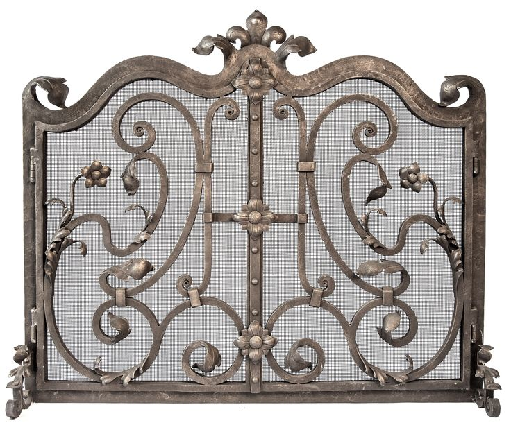 Buy Carlotta Iron Firescreen (Center Opening) by LCR Furniture & Design - Made-to-Order designer Accessories from Dering Hall's collection of Transitional Fireplace Mantels & Accessories.