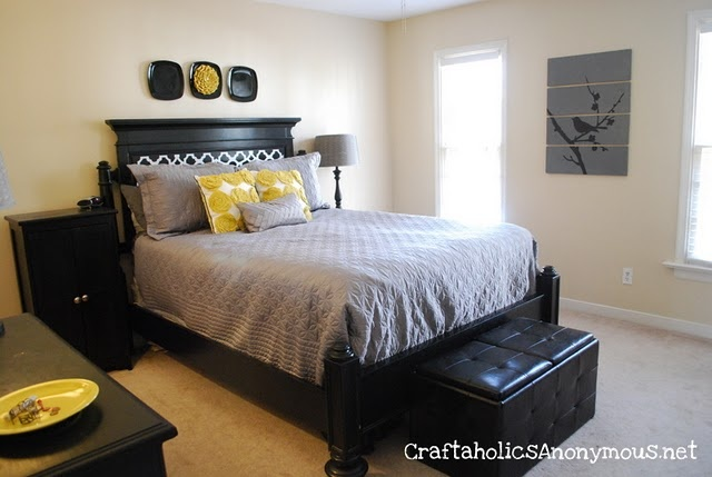 Master Bedroom Makeover Grey Yellow Bedrooms And Yellow Bedroom Paint