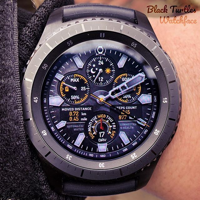 This sophisticated and luxurious watch has precisely arranged various complications. It also adopted the design of air craft. It is the watch face that will best suit your wrist and fashion. Search for Samsung Apps. #blackturtles #turtlesblack #gear #gears2 #gears3 #s2 #s3 #gears2classic #gears3frontier #gears2 #samsungs3 #samsung #wear #andoid #s3 #tizen #classic #gyro #frontier #watch #watchface #face #digital #tech #review #luxurywatches #luxurywatche #samsungmobile #samsunggalaxy…