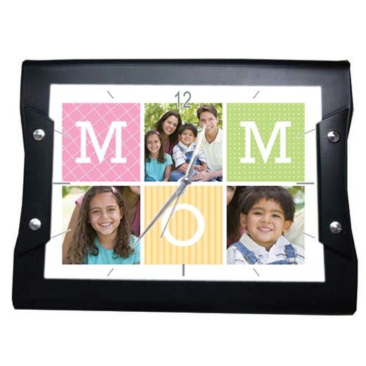 Rs.1,229.00 / $22.12 Shipping Charges Free Shipping To India(IND) Product Details  Present this Wall Clock  to your mother on this Mother's day and show your affection and love. Please send us 3 good photos. 4 Working Days DIMENSIONS :34 cm x 29 cm http://www.giftsomeone.com/photo-clock-mom7-/product_info.php/products_id/4577