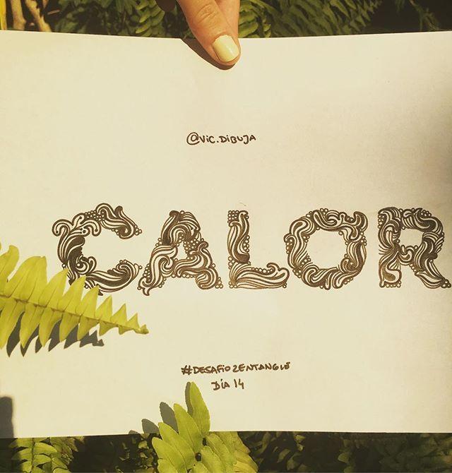 El día no da para otra cosa 😰 #desafiozentangle Dia 14  #zentanglechallenge  #type #palabras #calor #sol #dibujo #hechoamano #draw #handmade #typegang #typespire #domingo #illustration #doodle #doodling #diseño #graphicdesign