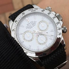 White Rolex Daytona with Black perlon Wrist Strap . We Sell High Quality Perlon Watch Strap with affordable price. 15 colors options. Match the best with your favorite watches. Contact Info : For DecoWrist news, please Click Like Page, www.facebook.com/... Or Instagram: DecoWrist #decowrist #rolexdaytona #watches #fashion #menswear #mensstyle #mensfashion #watchcollection #luxury #horology #wristwatch #watchaddict #rolexgmt #rolexgmtmaster #rolexgmtmaster2 #rolexdate #rolexdatejust