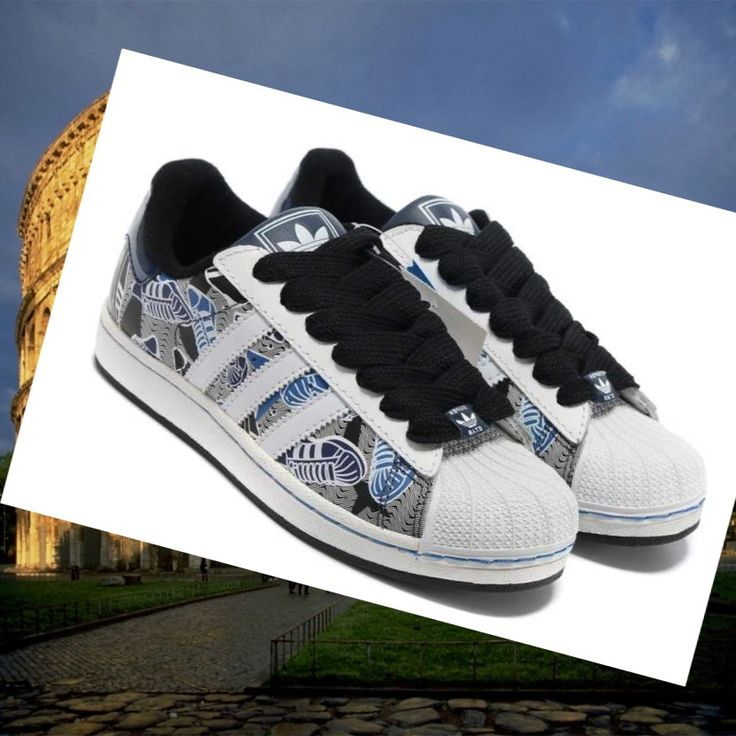 Adidas Superstar 2 Men Model running shoes white/black/blue HOT SALE! HOT