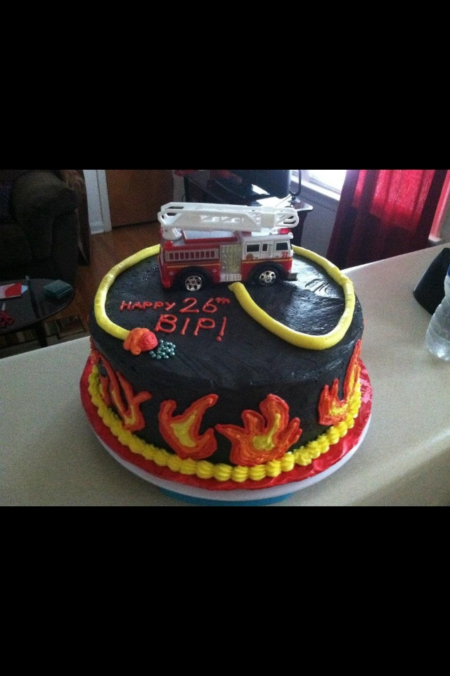 Fire Fighter bday cake!