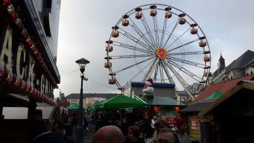 La noria de la plaza Lambert de Lieja #Xmasmarkets