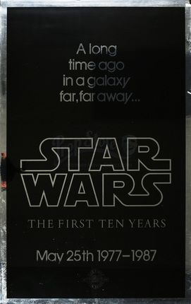 First Ten Years Silver Mylar One Sheet | Prop Store - Ultimate Movie Collectables