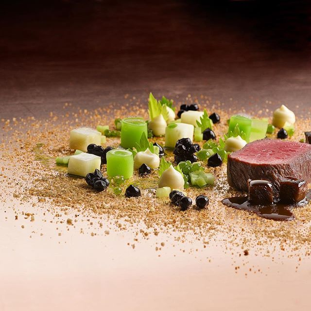 Deer with celery, elderberry and spices. #food #foodporn #foodphotography #delicious #yummy #chef #gourmet #meat #dinner #therestaurant #hautecuisines #cuisine