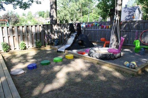 great backyard play area.
