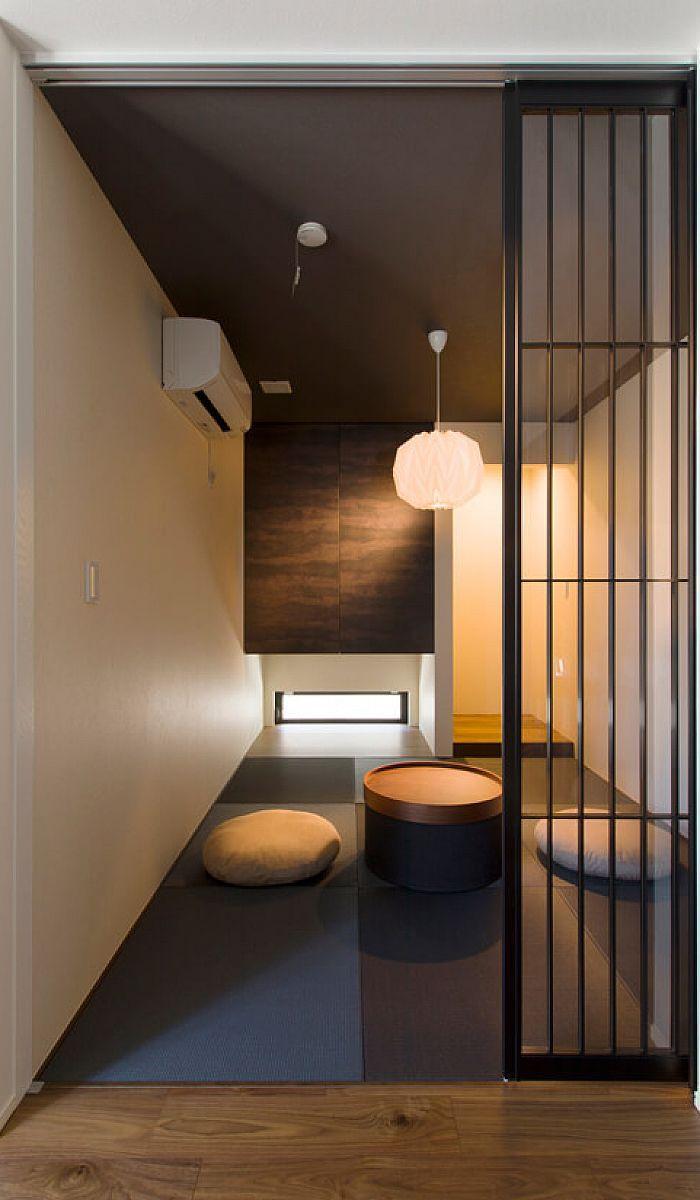 Ldkとつながりも考えて和モダンなデザインに 空間を引き締める黒い