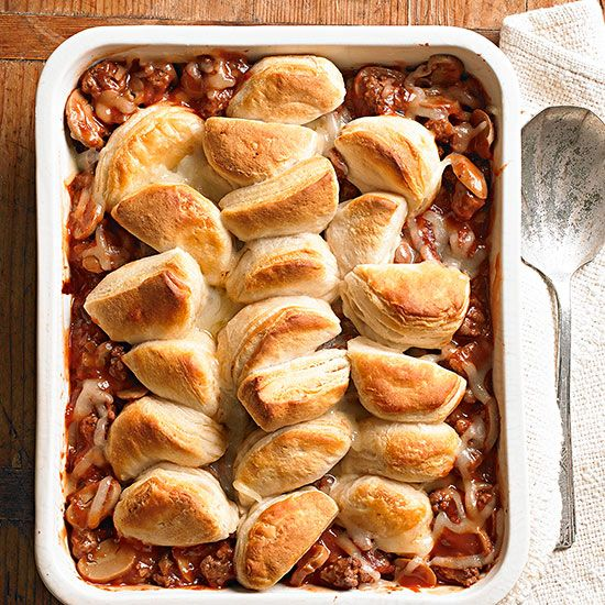 Bon appetit! This upside-down pizza casserole is the ultimate comfort food. Whether you make ahead and store in the freezer or prepare the day of, this delicious meal will quickly become a go-to dish.