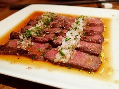 Wagu beef sashimi at Dinings