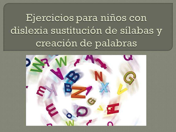 Ejercicios para niños con dislexia